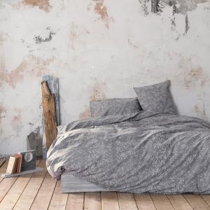 Σεντόνια Υπέρδιπλα Σετ με Λάστιχο 160x200+32cm Nima Adamello Gray