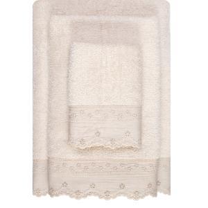 Πετσέτες Σετ 3τμχ Borea 63006 Εκρού