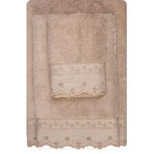 Πετσέτες Σετ 3τμχ Borea 63006 Σπαγγί