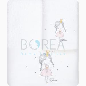 Πετσέτες Παιδικές Σετ 2τμχ Borea Chloe