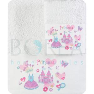 Πετσέτες Παιδικές Σετ 2 τεμ. Borea Πριγκίπισσα