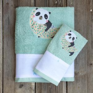 Πετσέτες Παιδικές Σετ 2 Τεμάχια Kocoon Space Panda Βαμβακερές