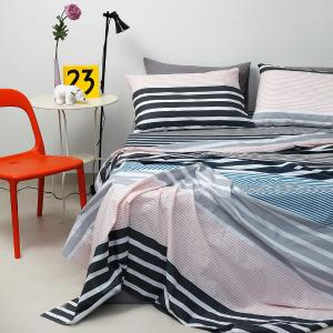 Σεντόνια Διπλά Σετ 200x260cm Melinen Ultra Stripemania Grey