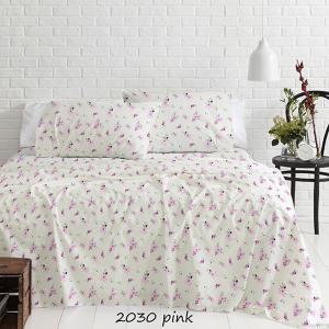 Φανελένια Σεντόνια Μονά Σετ 160x250cm Sunshine 2030 Ροζ