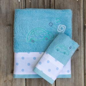 Πετσέτες Παιδικές Σετ 2 Τεμάχια Kocoon Toyo Βαμβακερές