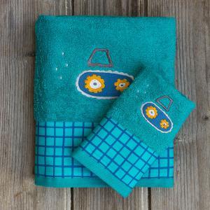 Πετσέτες Παιδικές Σετ 2 Τεμάχια Kocoon Tracts Βαμβακερές