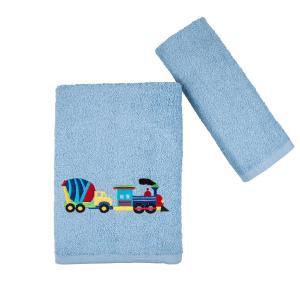 Πετσέτες Παιδικές Σετ 2 Τεμάχια Astron Truck Βαμβακερές