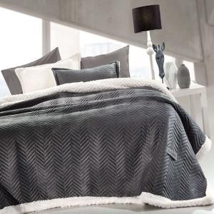 Κουβέρτα Βελουτέ Μονή Guy Laroche 160x220cm Velluto Anthracite