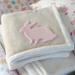 Κουβέρτα Flannel Αγκαλιάς 80x110cm Melinen Rabbit