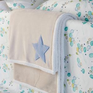 Κουβέρτα Flannel Κούνιας 110x140cm Melinen Star Blue
