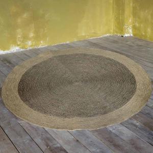 Στρογγυλό Χαλί Καλοκαιρινό Φ120 Nima Deco Carpets Bergen Beige