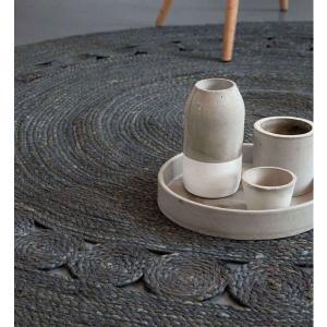 Στρογγυλό Χαλί Καλοκαιρινό Φ150 Nima Carpets Makrame Dark Grey