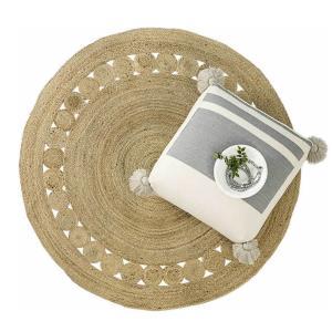 Στρογγυλό Χαλί Καλοκαιρινό Φ150 Nima Carpets Makrame Natural